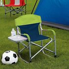 Kids Directors Chair with Fold Away Side Table Great for Sports Camping Be