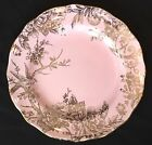 222 FIFTH PINK GOLD ADELAIDE EASTER SPRING TOILE DINNER PLATES~SET of 4~NEW