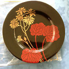 Fitz & Floyd Imperial Garden Black Gold Decorated Porcelain Salad Plate 7.5
