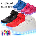 Unisex LED Light Up Casual Shoes Luminous Boots For Kid Adult Girl Boy Woman Man