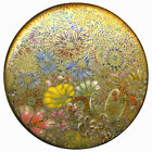 Button Large Modern Satsuma Pottery Millefiori with gold Overlay