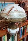 Victorian Hanging GWTW Parlor Library Oil Lamp Chandalier Bradley