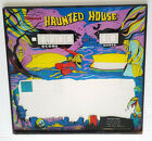 MIDWAY'S HAUNTED HOUSE Light Gun Machine Replacement BACKGLASS * RARE * VINTAGE