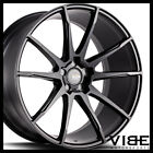 20 SAVINI BM12 BLACK CONCAVE WHEELS RIMS FITS INFINITI Q50 SEDAN