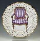 FITZ AND FLOYD CHAISE IV HAND DECORATED PLATE, CHAIR