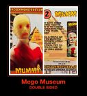 HTF 2 sided Lincoln MUMMY MEGO MUSEUM 70s Monsters Remco Universal Trading Card