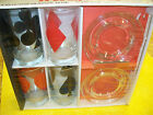 Vintage Mid Century Libbey's Trumps 'n Trays Poker Card Party Set NOS