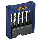 Irwin 5 Impact Screwdriver Bit Set PZ/PH/TX 1923433 Steel with ABS Resin Case