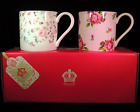 2 Fine Bone China Mugs/Cups - Confetti and New Country Roses by Royal Albert
