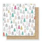 American Crafts Crate Paper Snow And Cocoa Patterned Paper 4 Sheets 12x12