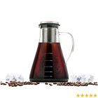 Cold Brew Iced Coffee Tea Maker Kit by Wintergreen 1,5L / 48 Oz Large Glass and