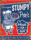 Stumpy Pete's Metal Pig Ham Man Cave BBQ Grill Home Decor Restaurant New!