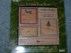 Anna Griffin stamp set Holiday Christmas A Gift For You wood mount retired NIB