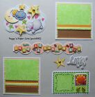 Premade Scrapbook Pages Mat Set SNUG AS A BUG IN A RUG Sewn Layout pack890