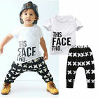 2PCS Baby Boys Toddler T shirt Tops Pants Summer Outfits Set Clothes 0 5T US