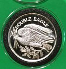 Double Eagle Vintage Collectible Coin 1 Troy Oz .999 Fine Silver American Round