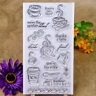 Coffee thanks a latte Scrapbook DIY photo cards account rubber stamp clear stamp