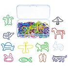 Shappy Multicolor Paper Clips Creative Animal Shape for Bookmark Office Schoo