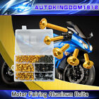 223pcs Motorcycle Sportbike Fairing Body Bolts Kit Fastener Clips Screws Gold