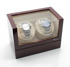 Versa Elite Plastic Clear-Cover and Spring Action Pillow Double Watch Winder wit