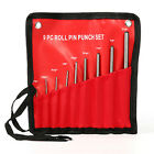 9 pc Roll Pin Pilot Punch Set Punches Tools Case Removing Gun Tools 9 Piece