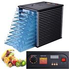 10 Tray 800W New Commercial Food Preserve Dryer Dehydrator Thermostat Adjustable