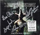 LION'S SHARE Emotional Coma, FULLY SIGNED Nils Patrik Johansson Astral AUTOGRAPH