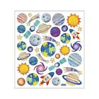 Scrapbooking Crafts Stickers Planets Solar Sun Shooting Star Saturn Space Ship