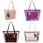 Womens Clear Transparent Beach Handbag Shoulder Tote 2 in 1 Girls Cosmetic Bags