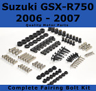Complete Fairing Bolt Kit body screws for Suzuki GSX-R 750 2006 2007 Stainless