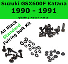 Black Fairing Bolt kit body screws fastener for Suzuki GSX 600F 1990 1991 Katana