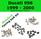 Fairing Bolt Kit body screws fasteners for Ducati 996 1999 - 2000 Stainless