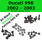 Stainless Black Fairing Bolt Kit body screws fastener for Ducati 998 2002 - 2003