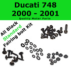 Stainless Black Fairing Bolt Kit body screws fastener for Ducati 748 2000 - 2001