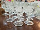 Vintage Diamond Point Wine Glasses by Indiana Glass Co clear glass set of 7