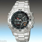 Casio Men's Hunting Timer Thermometer Stainless Steel Watch AMW705D-1AV New