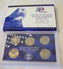 2003 US Mint 50 State Quarters Proof Set Original Box COA
