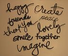 9 Sentiment Words for Greeting Cards or Scrapbooking DIE CUTS