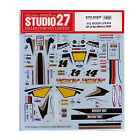 Studio27 ST27-DC835 RC212V LCR #14 San Marino 2009 Decal for Tamiya 1/12