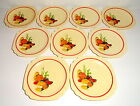 Homer Laughlin MEXICANA Square Century Shape Red Band Saucers, Set of 9