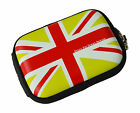 Croco GREEN Union Jack Flag SML Hard Case Sony Cyber Shot DSC S95 DSC S500