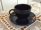 No. 3: Contemporary Fiestaware Cup And Saucer COBALT BLUE - Rarely Used