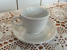 No. 1: Contemporary Fiestaware Cup And Saucer WHITE - Rarely Used