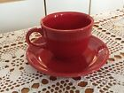 No. 2: Contemporary Fiestaware Cup And Saucer SCARLET - Seldom Used