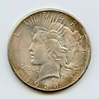 1928 P Silver Peace Dollar THE KEY Ch BU obverse toning hucky
