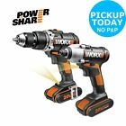 Worx 20V 1.5Ah Li-Ion 2 Gear Twin Pack Combi Drill And Impact Driver. From Argos