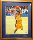 Kobe Bryant Signed & Auto Two Hand Dunk 2008 16x20 #8 Photo Framed PSA DNA Auth