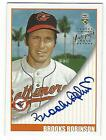 2002 Topps Super Teams '70 Baseball Brooks Robinson on card auto Orioles