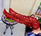Thigh High Over Knee Sequins Sparkle Open Toe Stiletto Heel Dress Boots