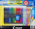 Pilot G2 Premium Gel Roller Fine 07mm Assorted Color Japan 20 Retractable Pens